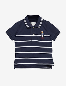 Captain Bear Cotton Mesh Polo - NEWPORT NAVY MULT