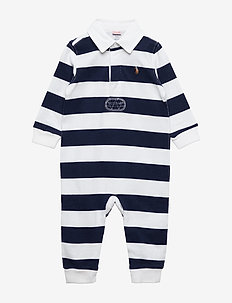 Striped Cotton Rugby Coverall - FRENCH NAVY/WHITE