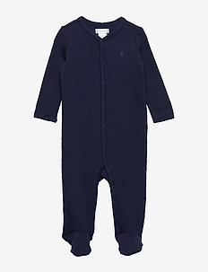 Waffle-Knit Cotton Coverall - FRENCH NAVY
