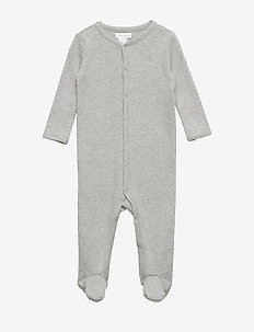 Waffle-Knit Cotton Coverall - LIGHT GREY HEATHE