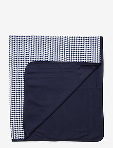 Print Cotton Blanket - NAVY MULTI