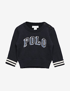 Polo Cotton Crewneck Sweater - RL NAVY MULTI
