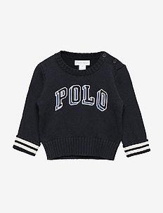 Polo Cotton Crewneck Sweater - RL NAVY MULTI