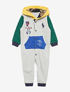 Graphic Cotton Hooded Coverall - LIGHT GREY HEATHE
