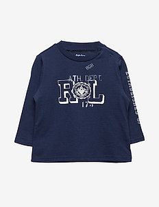 Graphic Long-Sleeve Cotton Tee - FRENCH NAVY