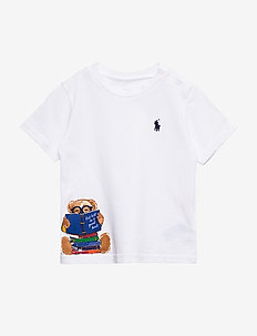 Reading Bear Jersey Tee - WHITE