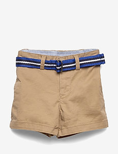 Belted Cotton Chino Short - shorts - classic khaki