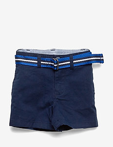 Belted Cotton Chino Short - shortsit - newport navy
