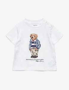 Football Bear Cotton Tee - WHITE