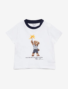 Sparkler Bear Cotton Tee - À manches courtes - white