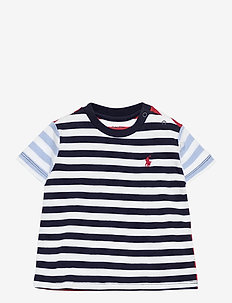 Striped Cotton Jersey Tee - À manches courtes - newport navy mult