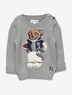 Collegiate Bear Sweater - ANDOVER HEATHER
