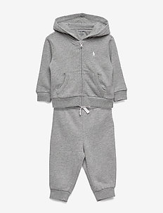 French Terry Hoodie & Pant - tracksuits - light grey heathe