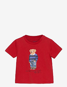 Rugby Bear Cotton Jersey Tee - short-sleeved - rl 2000 red