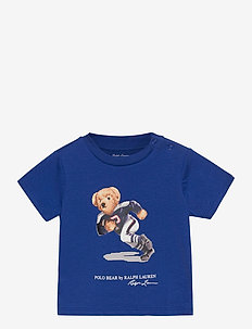 Rugby Bear Cotton Jersey Tee - short-sleeved - sistine blue