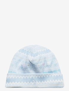 Print Interlock Hat - hats - blue multi