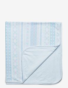 Print Interlock Blanket - blankets & quilts - blue multi