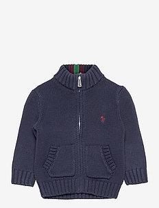 Cotton Full-Zip Sweater - gilets - rl navy multi