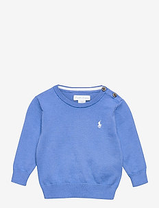 Cotton Crewneck Sweater - habits tricotés - harbor island blu