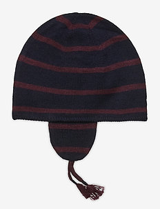 MERINO WOOL-EAR FLAP HAT-AC-HAT - hats - rl navy