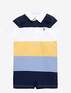 Striped Cotton Rugby Shortall - kurzärmelig - empire yellow mul