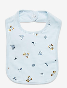 Polo Bear Interlock Bib - bavoir - blue multi