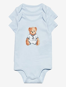 Polo Bear Bodysuit 2-Piece Set - short-sleeved - white multi