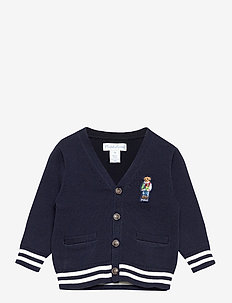 Polo Bear Cotton Cardigan - gilets - rl navy
