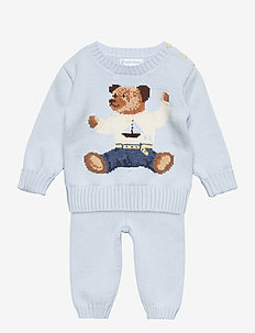 Polo Bear Sweater & Pant Set - jeu de 2 pièces - beryl blue