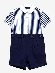 Striped Shirt & Short Set - 2-delte sæt - french navy multi