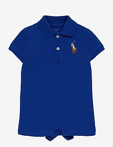 Big Pony Cotton Mesh Polo Shortall - short-sleeved - sapphire star