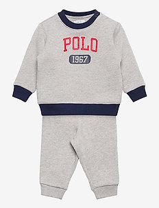 Logo Fleece Sweatshirt & Pant Set - 2-delige sets - andover heather