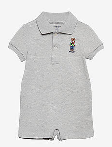 Polo Bear Cotton Interlock Shortall - korte mouwen - andover heather