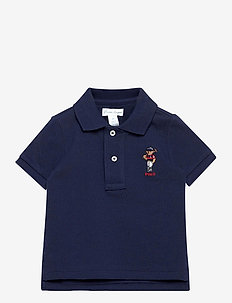 Polo Bear Cotton Mesh Polo Shirt - poloshirt - newport navy