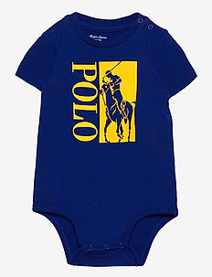 Big Pony Logo Jersey Bodysuit - short-sleeved - heritage royal