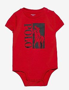 Big Pony Logo Jersey Bodysuit - kortærmede - rl 2000 red