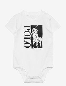 Big Pony Logo Jersey Bodysuit - kurzärmelige - white