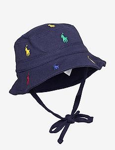 Polo Pony Mesh Bucket Hat - sun hats - newport navy