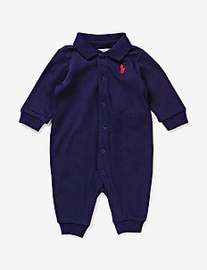 Cotton Polo Coverall - FRENCH NAVY