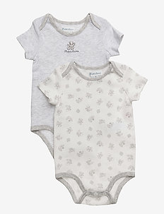 Cotton Bodysuit 2-Piece Set - korte mouwen - quartz heather