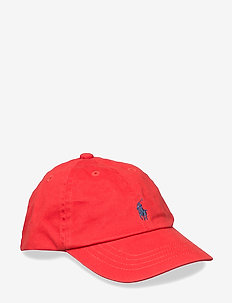 Cotton Chino Baseball Cap - caps - rl 2000 red