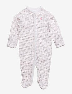 Floral Cotton Coverall - one-sie - white multi flo