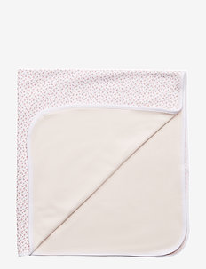 Floral-Print Cotton Blanket - WHITE MULTI FLO