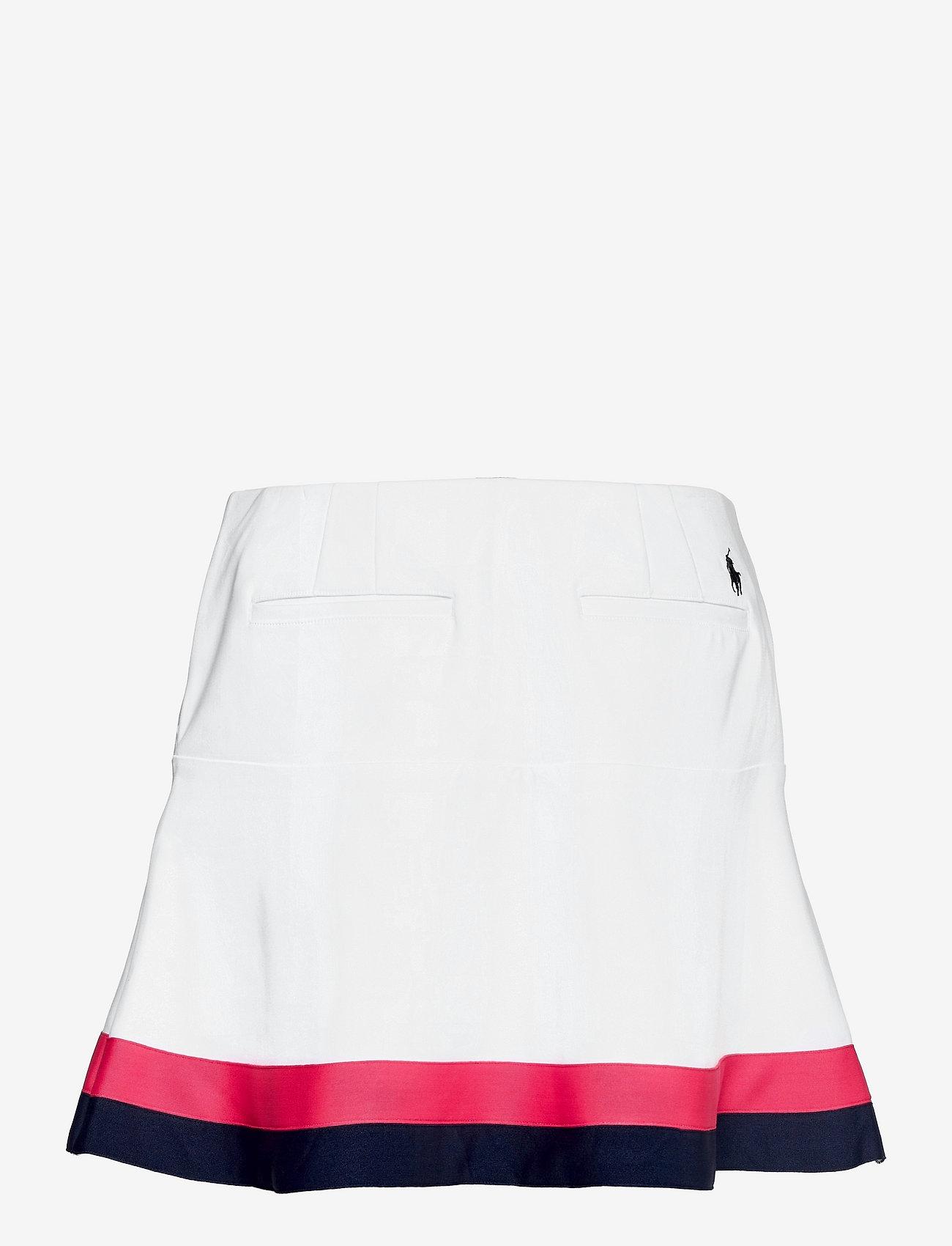 Ralph Lauren Golf - POLY/DOBBY-FLOUNCE SKRT - træningsnederdele - pure white/fr nav - 1