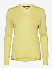 Ralph Lauren Golf - Merino Wool V-Neck Golf Sweater - trøjer - bristol yellow/pure white - 0