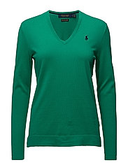 Cotton V-Neck Sweater - TROPICAL TEAL