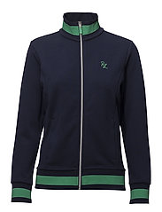 Cotton-Blend Track Jacket - FRENCH NAVY