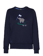 Embroidered Golf Pullover - FRENCH NAVY