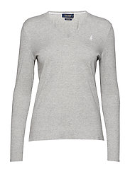 COTTON JERSEY-LSL-SWT - LT GREY HEATHER