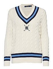 Golf Cricket Sweater - CREAM MULTI